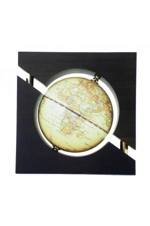 GLOBO MAPPA MODERNA CON CORNICE LEGNO HT:15CM