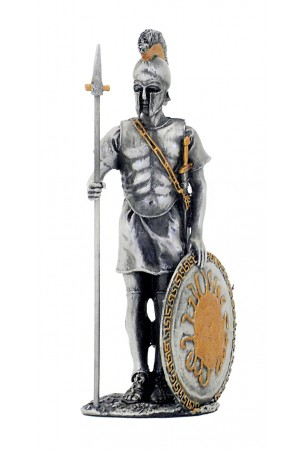 GUERRIERO ROMANO CON SCUDO H:14CM